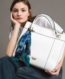 Faux leather hobo bag with scarf Off White Woman 191MO8102-0S