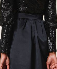 Minifalda de duquesa Negro Mujer 202TP2453-05