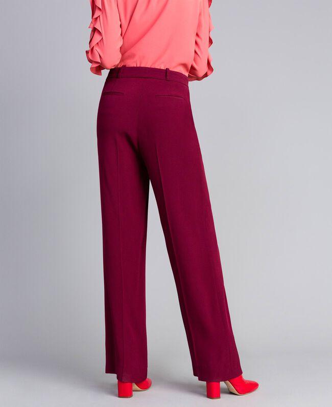 Pantalon en cady Bordeaux Femme PA822N-03