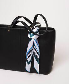 Sac cabas en similicuir avec foulard Noir Femme 201MA7080-01