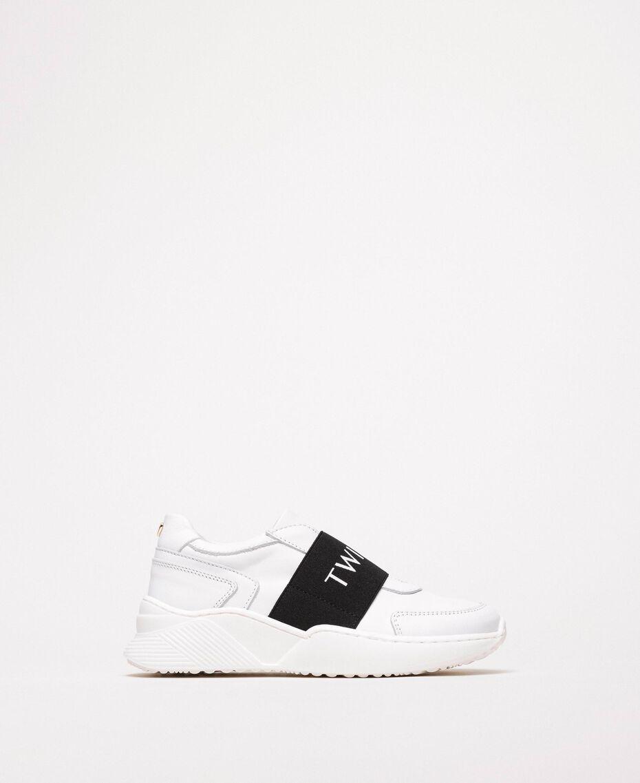 Zapatillas de running con logotipo Blanco Niño 201GCJ024-02