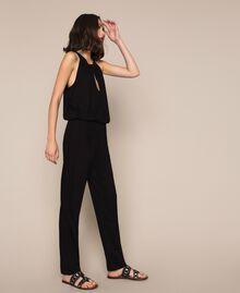 Jumpsuit with sequins Black Woman 201LB2CHH-01
