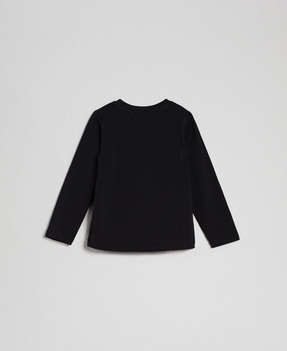 T-shirt avec logo en sequins Noir Enfant 192GB244C-0S