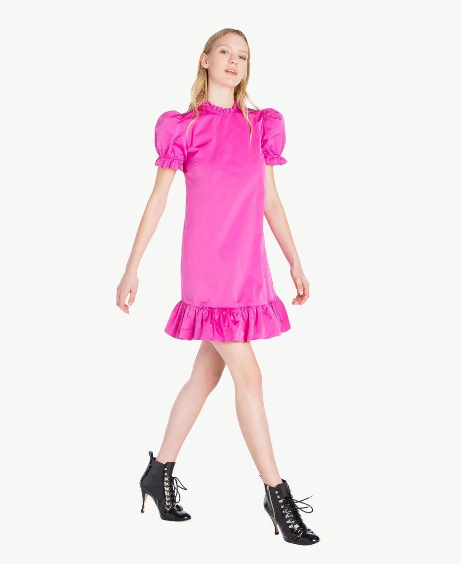 Kleid aus technischem Gewebe Pink Frau PS82J2-02