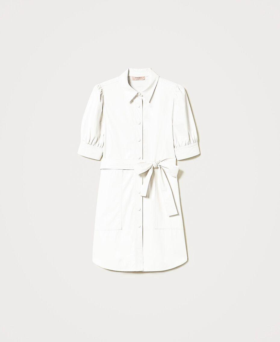 Shirt dress with belt White Snow Woman 211TT2020-0S