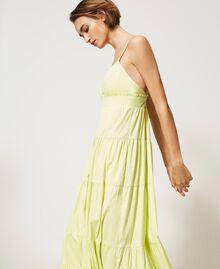 """Draco"" poplin dress with flounces ""Sunny"" Yellow Woman 211MT2265-06"