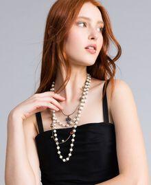 Collier à chaînes multiples agrémenté de perles et de pierres Laiton Usé Femme QA8TLP-0S