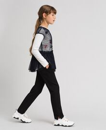 Slim fit trousers with elastic Black Child 192GJ2250-02