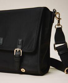 Satin Twinset Bag shoulder bag Black Woman 202TB7203-03