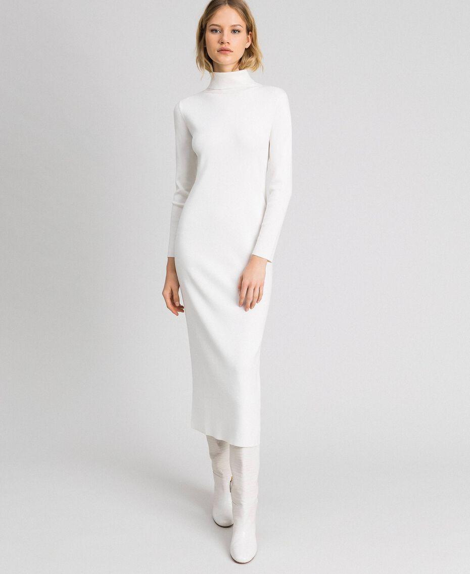 Long knitted dress Vanilla White Woman 192MT3014-01