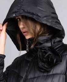 Doudoune longue avec broche Noir Femme JA82A1-04