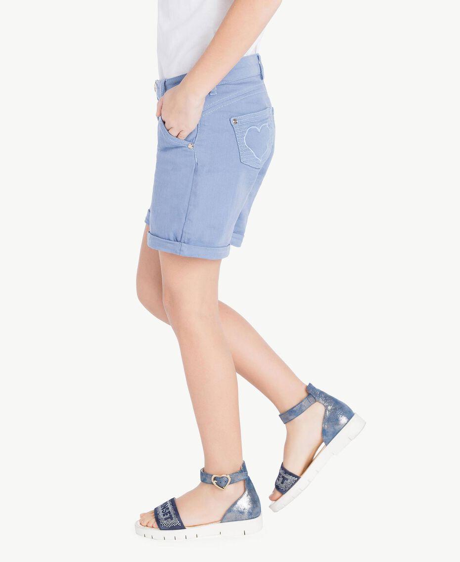 Short coton Bleu Infini Enfant GS82CQ-03