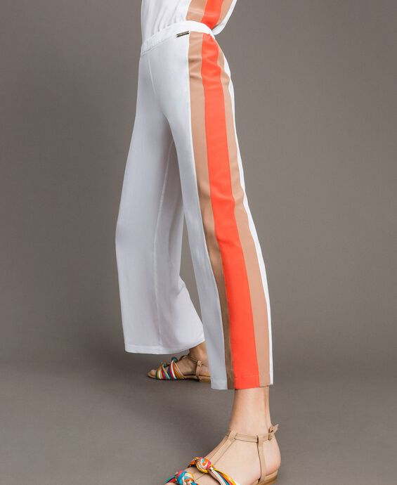 Palazzo trousers with multicolour panels