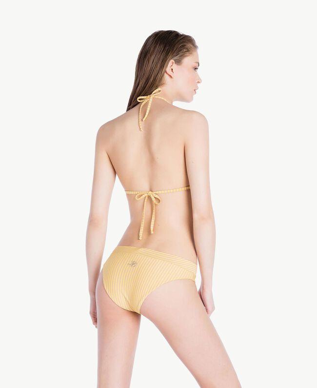 Striped triangle bra Yellow Fizz Lurex Stripes Woman MS8C22-04