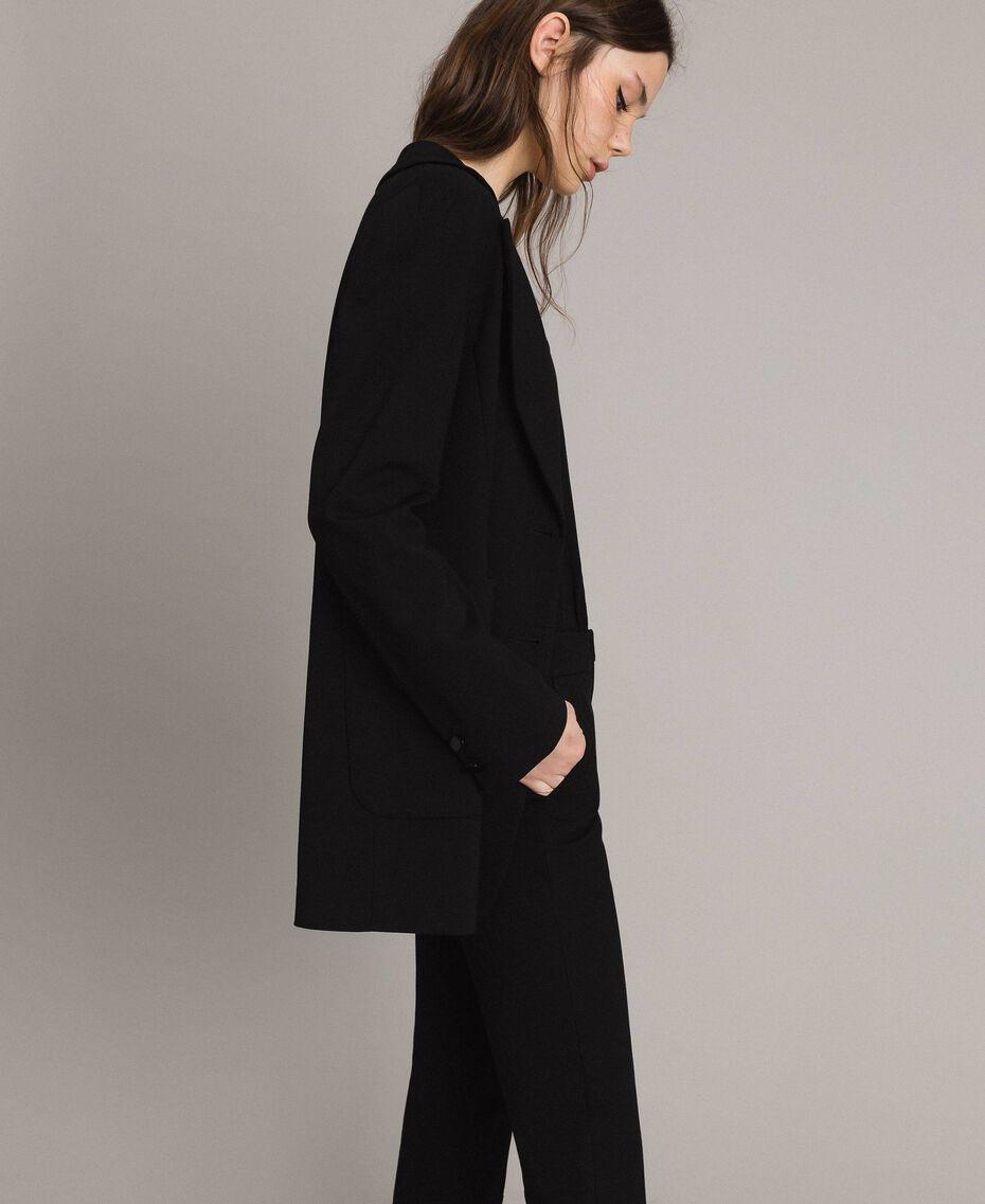 Giacca blazer lunga Nero Donna 191TP2420-02