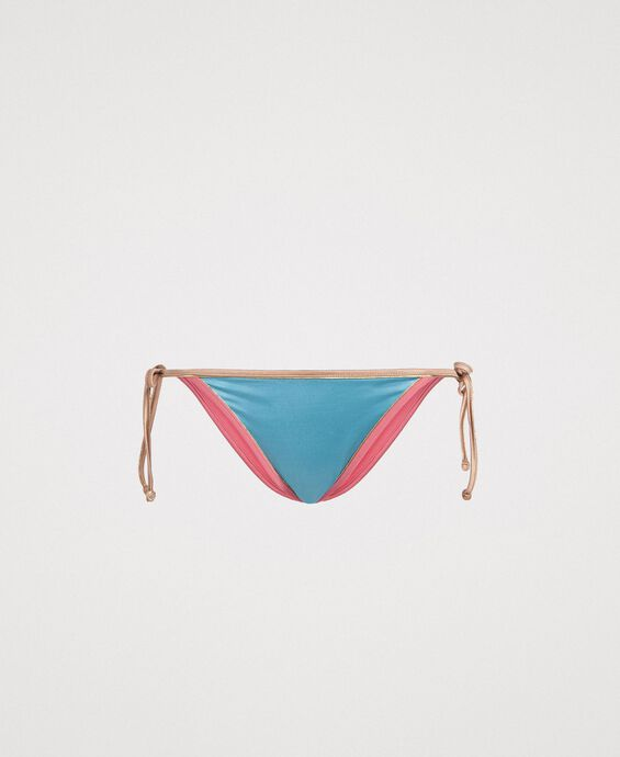 Bas de bikini brésilien avec bords contrastés