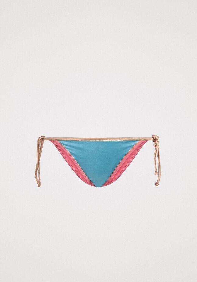 Brazilian bikini bottom with contrasting trims