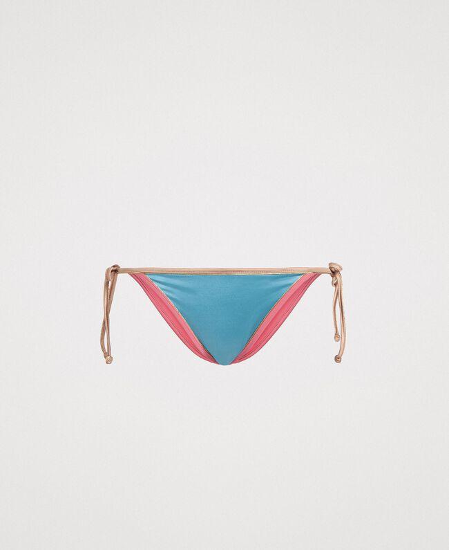 bbb74a72dd37e Brazilian bikini bottom with contrasting trims Multicolour Daylight Blue