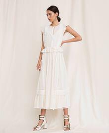 Длинное платье из сангалло Белый Снег женщина 201TP2497-01