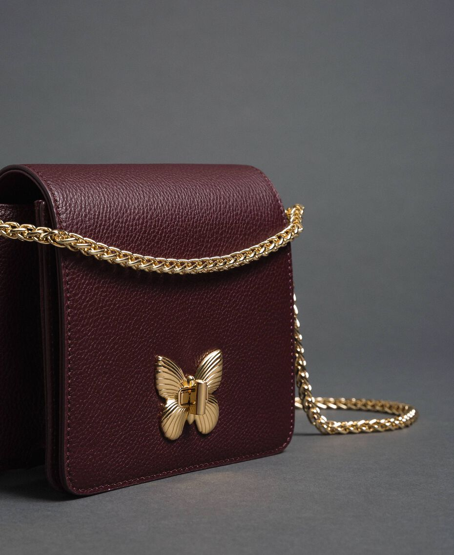 Small Bea leather shoulder bag Beet Red Woman 192TA7021-02