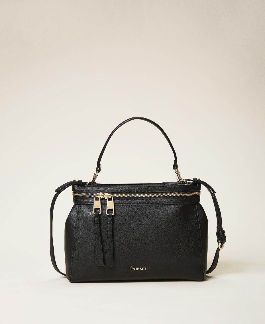 Large faux leather New Cécile bag Turtledove Woman 202TB7180-03