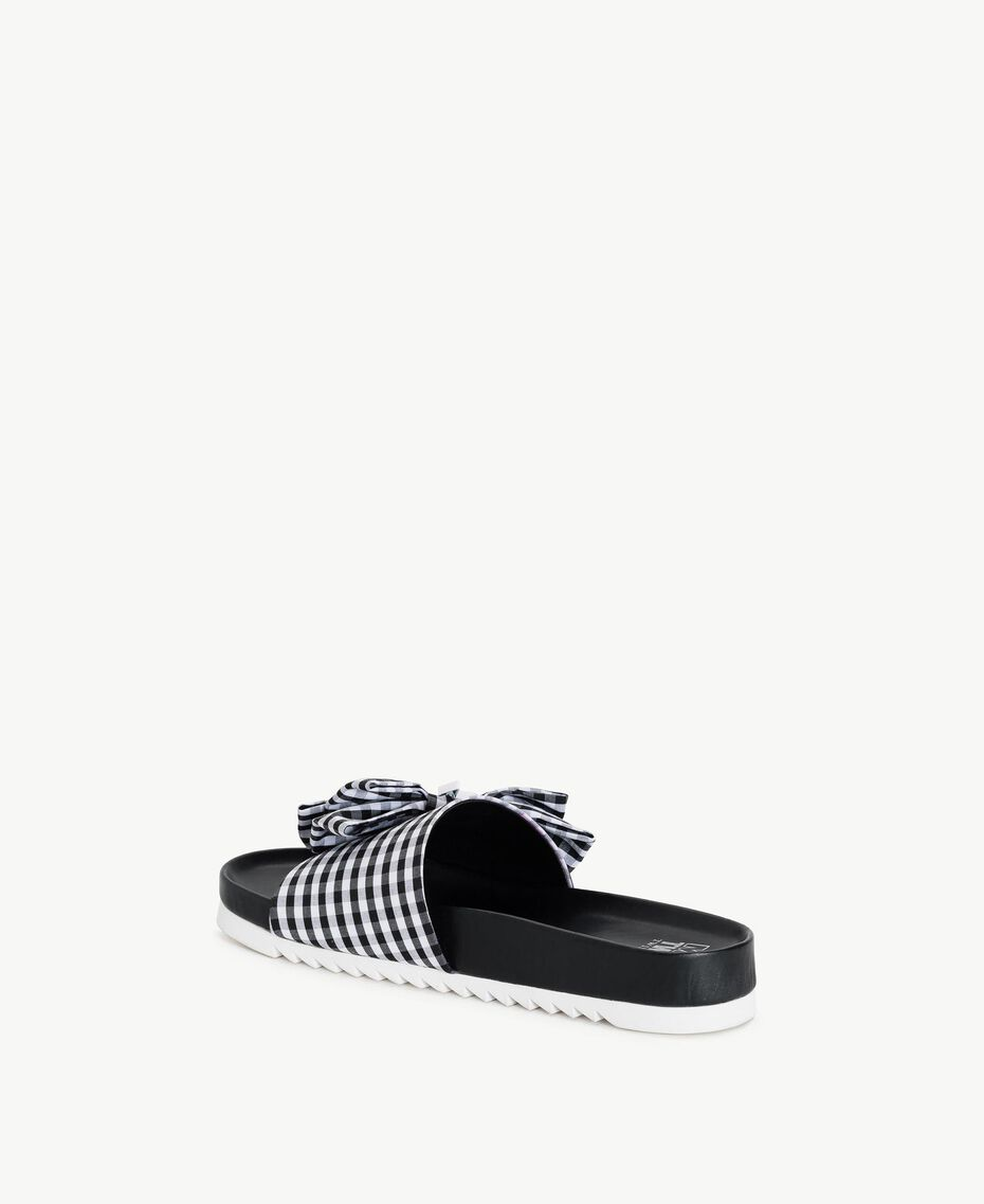 TWINSET Gingham slippers Black Woman DS8PEN-03