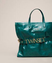 Кожаная сумка-шоппер с логотипом Питон женщина 201TA7090-01