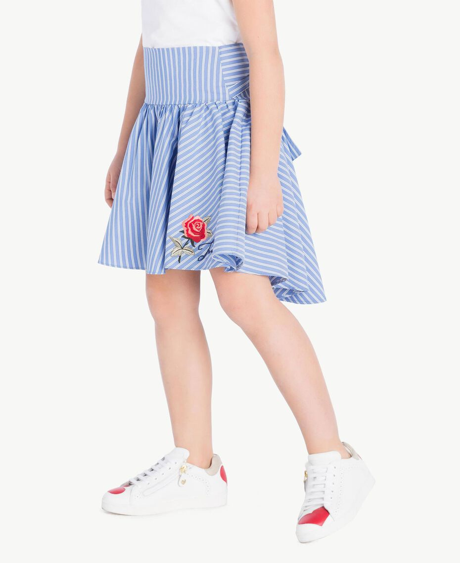 Poplin skirt Infinite Light Blue Jacquard Child GS82LQ-03