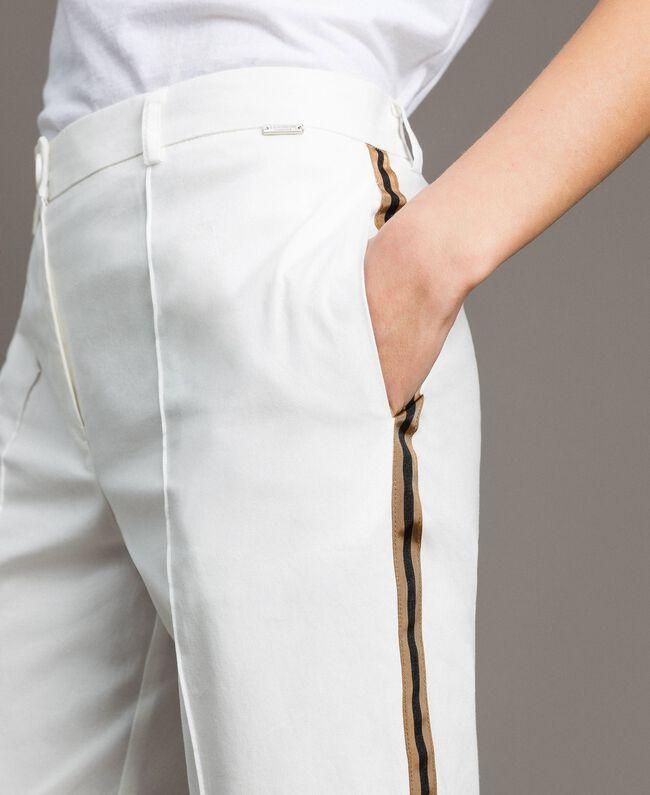 Pantalon en popeline à coupe cigarette Off White Femme 191ST2040-04