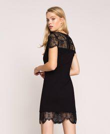 Платье-футляр с кружевом Черный женщина 201TP212A-01