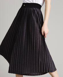 Pantaloni cropped in lurex Nero Donna 191LB23AA-04