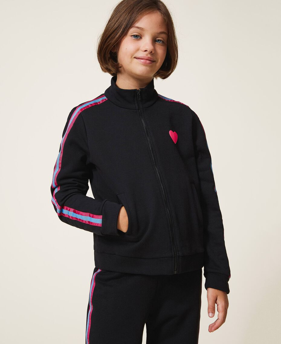 Толстовка с разноцветными полосами Черный Pебенок 202GJ2710-02