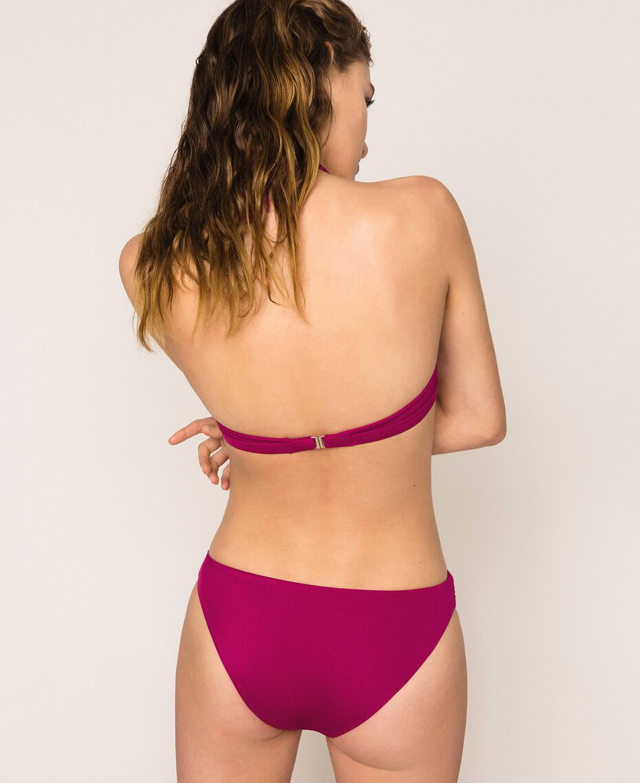 Logo triangle bikini top Hot Fuchsia Woman 201LBMH33-03