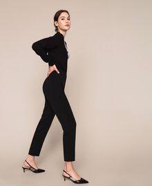 Pantalon fluide en crêpe georgette Griotte Femme 201TP202B-02