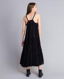 Robe volantée en tulle Noir Femme JA82MA-03