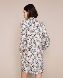 Крепдешиновое платье с цветочным рисунком Принт Цветочный Черный женщина 201MP2374-04