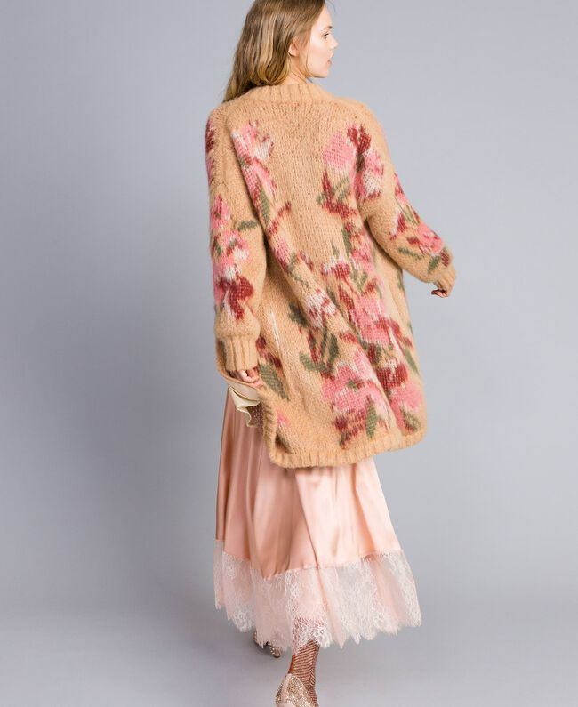 """Cappotto in mohair jacquard Jacquard Fiorato Beige """"Cookie"""" Donna TA831N-01"""