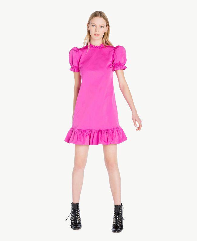 Kleid aus technischem Gewebe Pink Frau PS82J2-01