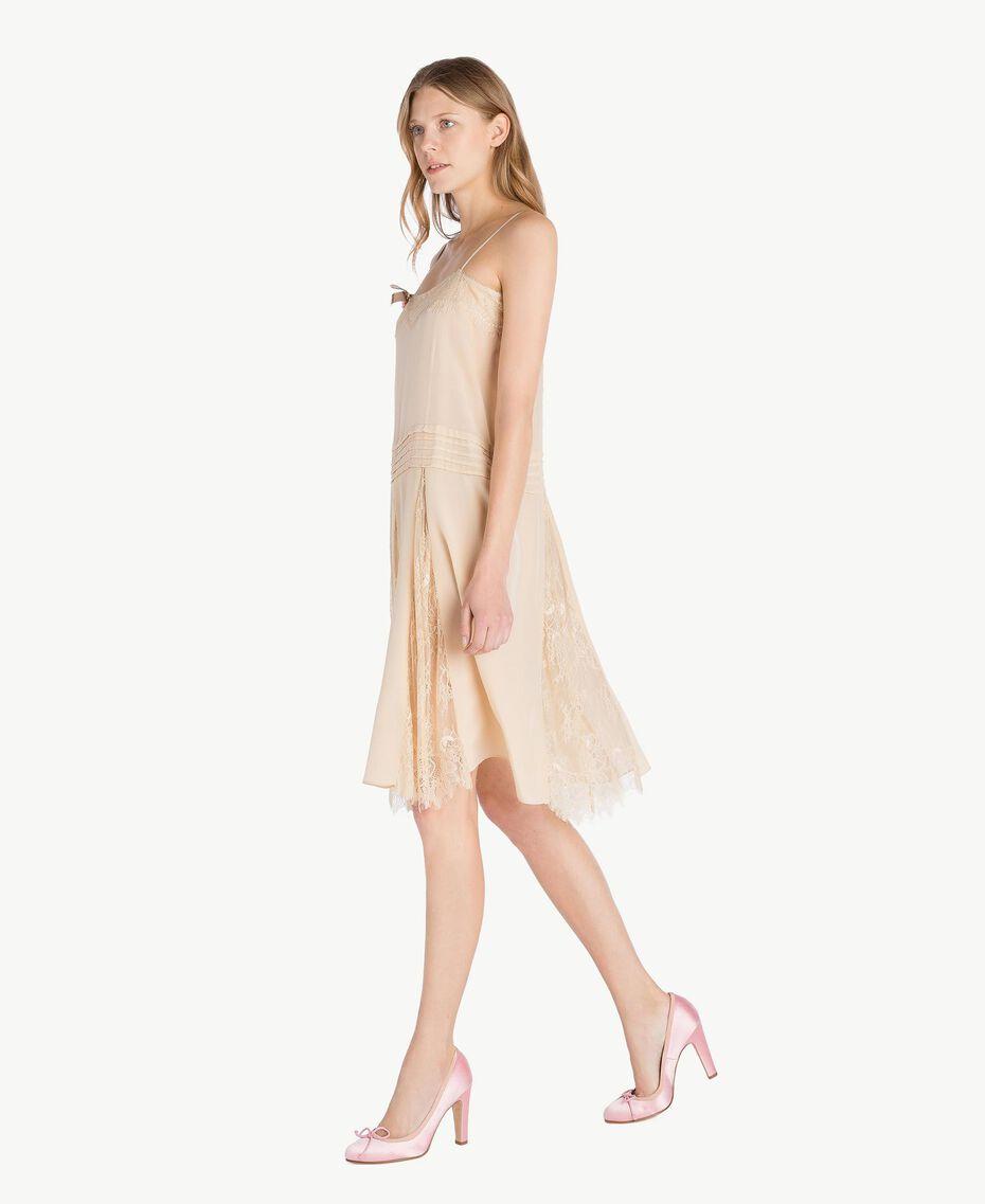 Silk dress Ecrù Woman PS82EC-02
