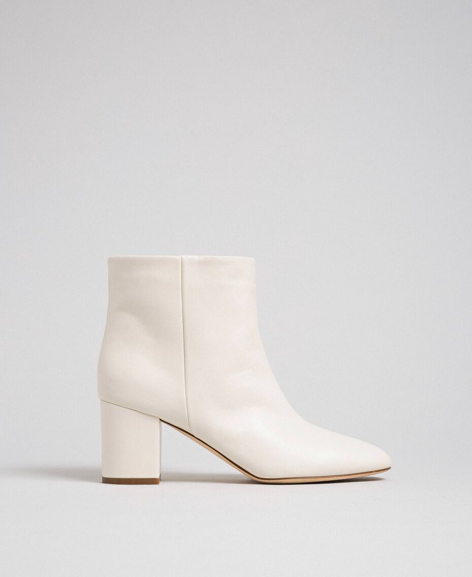 Bottines en cuir Off White Femme 192TCP102-03