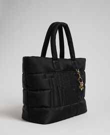 Quilted shopper with charms Black Woman 192TO8060-01
