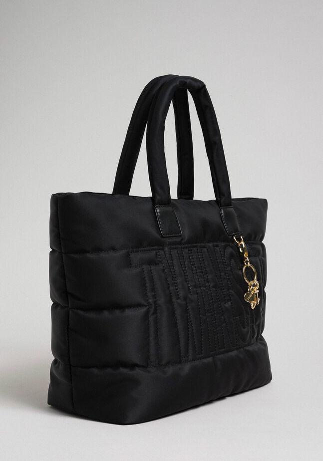 Quilted shopper with charms