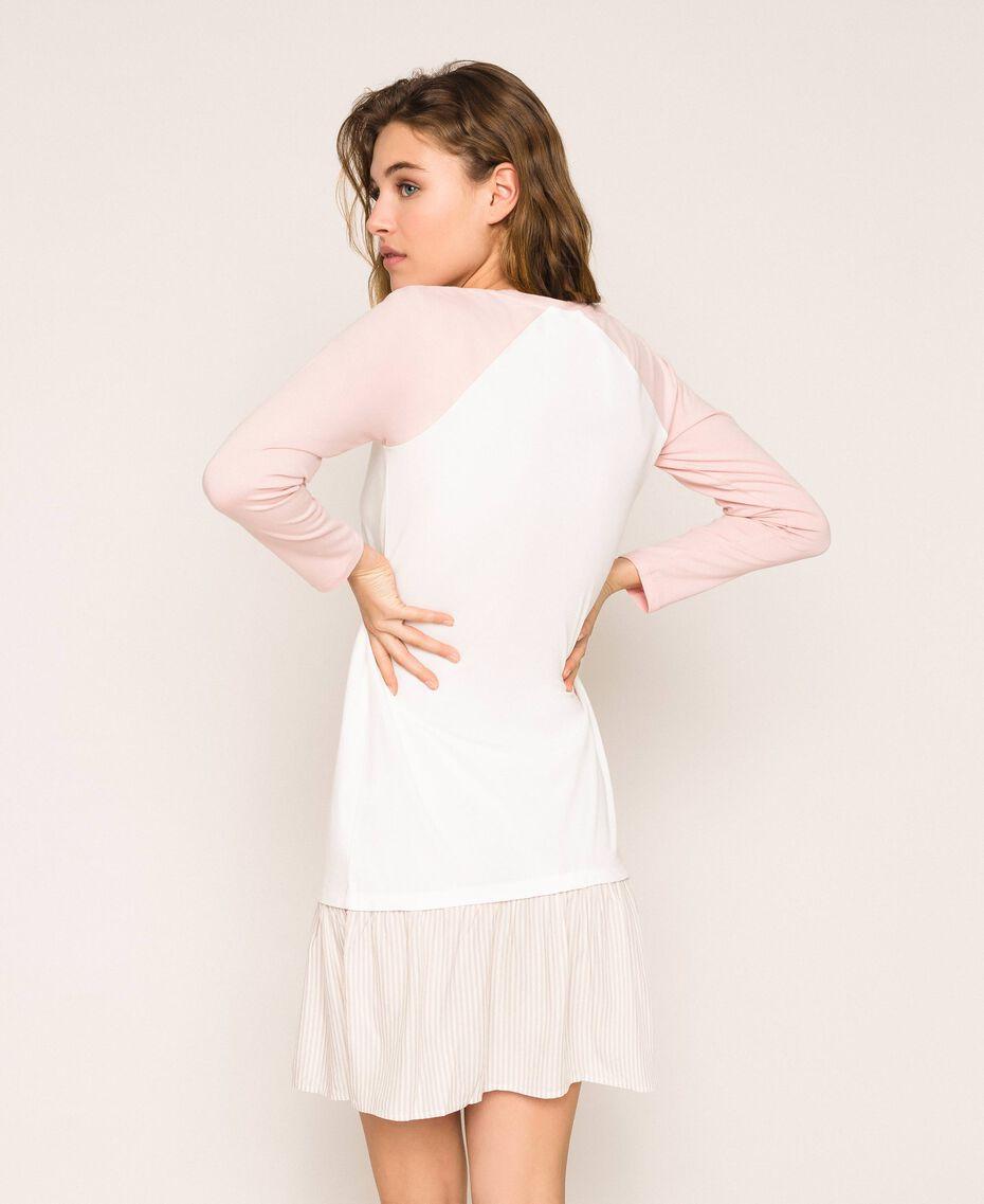 """Camicia da notte con balza Rosa """"Peachskin"""" Donna 201LL27AA-03"""