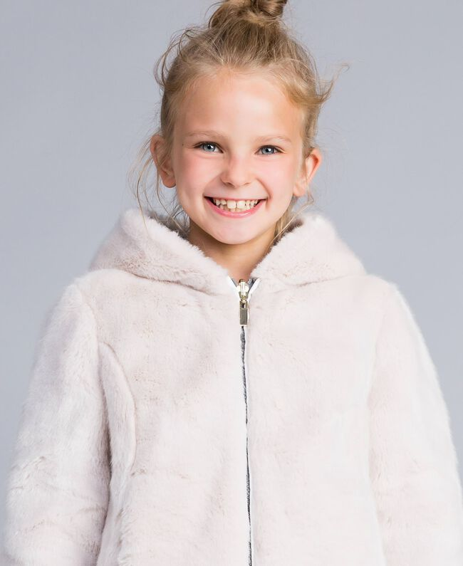 "Reversible padded jacket Bicolour Off White / ""Stone"" Grey Child GA82AG-04"