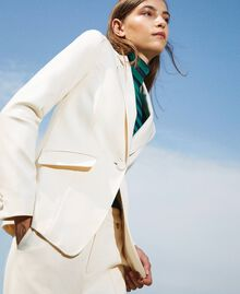Blazer with pockets Creamy White Woman 202MP2293-01