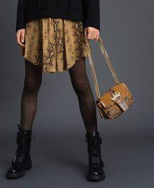Petit sac Rebel à bandoulière en cuir et cuir velours Imprimé Python Brandy Femme 192TO8240-0S