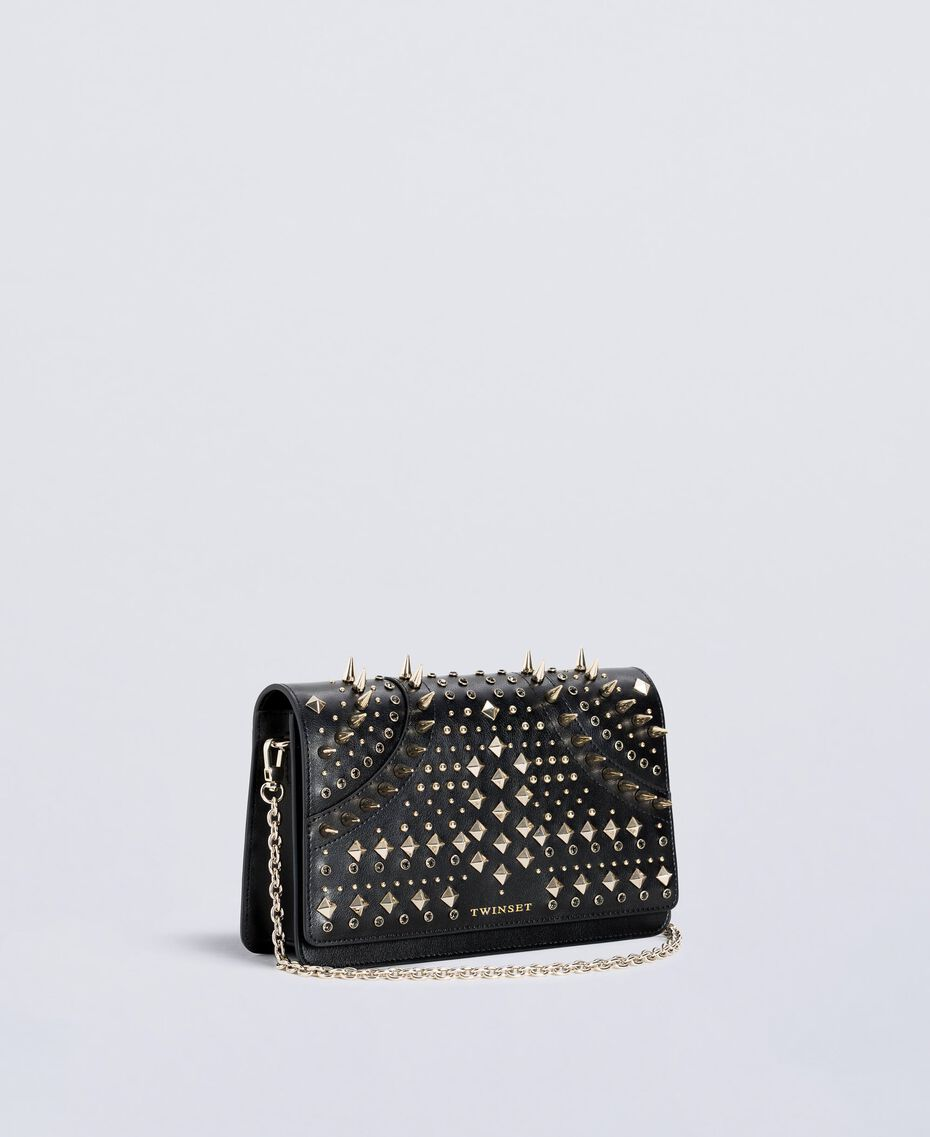 Studded clutch bag Black Woman OS8TLB-02