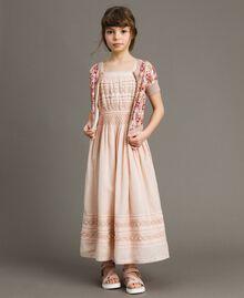 Long dress with embroideries Blossom Pink Child 191GJ2353-0T