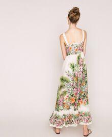Vestido largo con estampado de flores Estampado Jungle Flowers Nieve Mujer 201TT2483-03