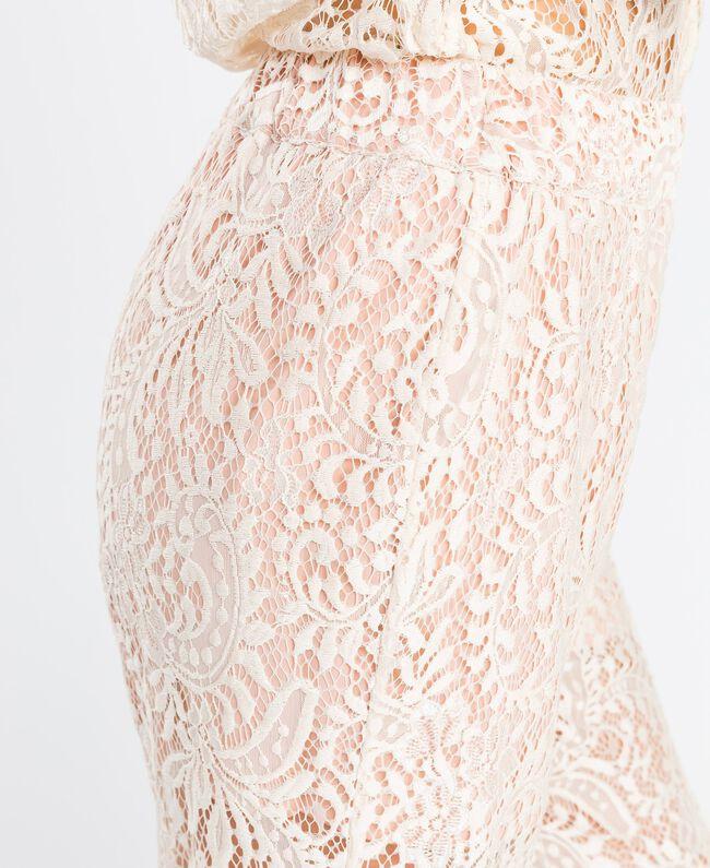 Pantaloni in pizzo smerlato Blanc Donna IA8CRR-04